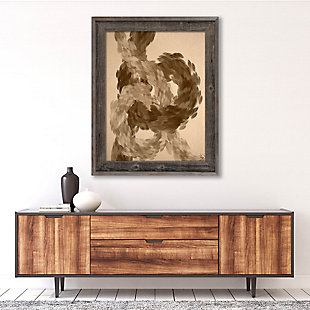 Feather Knots 24X36 Barnwood Framed Canvas, Brown, rollover