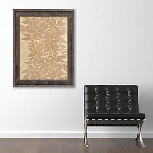 Neutral Tropical Leaf Chain 24X36 Barnwood Framed Canvas, Brown, rollover
