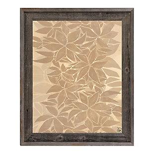 Neutral Tropical Leaf Chain 24X36 Barnwood Framed Canvas, Brown, large
