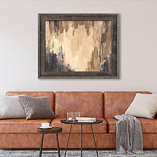 Neutral Cave Of Dreams Beta 24X36 Barnwood Framed Canvas, Brown, rollover