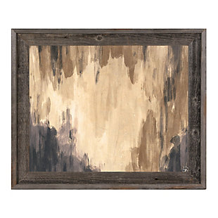 Neutral Cave Of Dreams Beta 24X36 Barnwood Framed Canvas, Brown, large