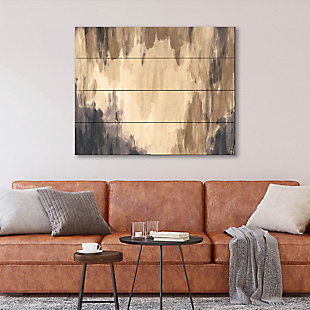 Neutral Cave Of Dreams Beta 20X24 Wood Plank Wall Art, Brown, rollover
