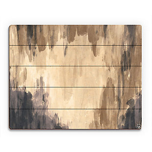 Neutral Cave Of Dreams Beta 20X24 Wood Plank Wall Art, Brown, large