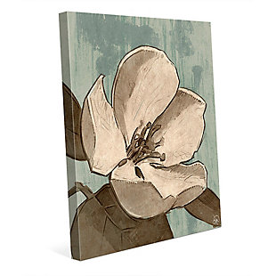 Rustic Magnolia Teal 20X30 Canvas Wall Art, , large