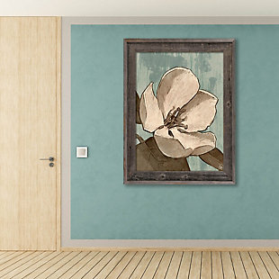 Rustic Magnolia Teal 11X14 Barnwood Framed Canvas, , rollover