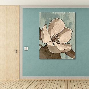 Rustic Magnolia Teal 24X36 Metal Wall Art, Brown, rollover