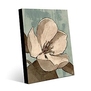 Rustic Magnolia Teal 24X36 Metal Wall Art, Brown, large
