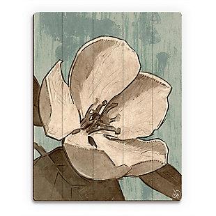 Rustic Magnolia Teal 20X24 Wood Plank Wall Art, Brown, large