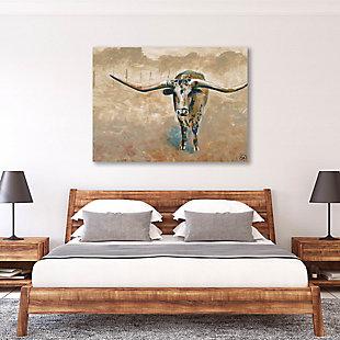 Longhorn Steer 11X14 Metal Wall Art, , rollover