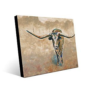 Longhorn Steer 11X14 Metal Wall Art, , large