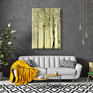 October Trees Alpha 24X36 Canvas Wall Art, Yellow, rollover