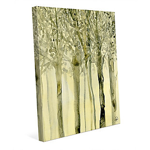 October Trees Alpha 24X36 Canvas Wall Art, Yellow, large