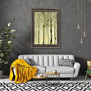 October Trees Alpha 11X14 Barnwood Framed Canvas, , rollover