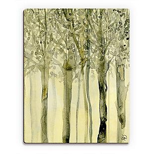 October Trees Alpha 20X24 Wood Plank Wall Art, Yellow, large