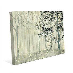Misty Forest Alpha 24X36 Canvas Wall Art, Gray, large