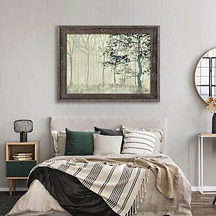 Misty Forest Alpha 24X36 Barnwood Framed Canvas, Gray, rollover
