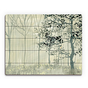 Misty Forest Alpha 20X24 Wood Plank Wall Art, Gray, large