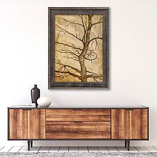 Scraggly Tree Gamma 24X36 Barnwood Framed Canvas, Brown, rollover