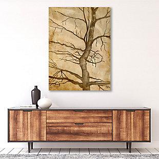 Scraggly Tree Gamma 24X36 Metal Wall Art, Brown, rollover