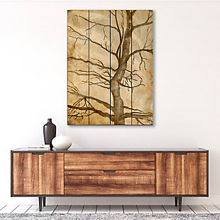 Scraggly Tree Gamma 20X24 Wood Plank Wall Art, Brown, rollover