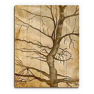 Scraggly Tree Gamma 20X24 Wood Plank Wall Art, Brown, large