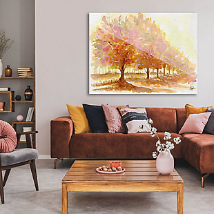 Red Autumn 24X36 Acrylic Wall Art, Brown, rollover