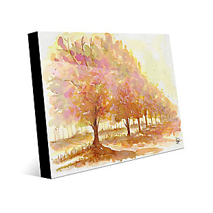 Red Autumn 24X36 Acrylic Wall Art, Brown, large