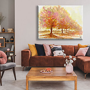 Red Autumn 24X36 Canvas Wall Art, Brown, rollover