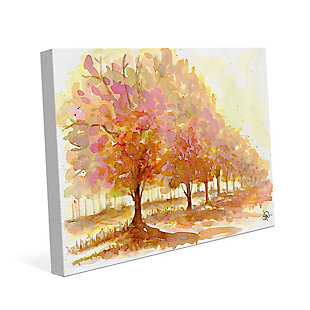 Red Autumn 24X36 Canvas Wall Art, Brown, large