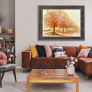 Red Autumn 24X36 Barnwood Framed Canvas, Brown, rollover