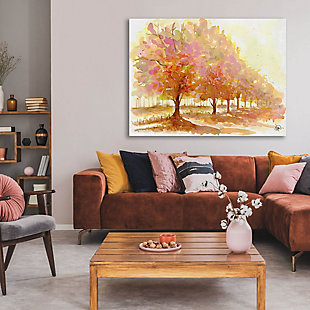 Red Autumn 24X36 Metal Wall Art, Brown, rollover