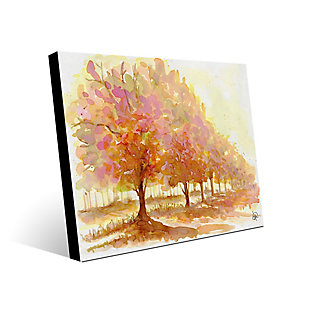 Red Autumn 24X36 Metal Wall Art, Brown, large