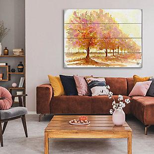 Red Autumn 20X24 Wood Plank Wall Art, Orange, rollover