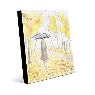 Autumn Rain 24X36 Acrylic Wall Art, Yellow, large