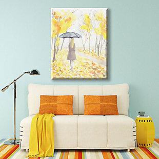 Autumn Rain 24x36 Canvas Wall Art, Yellow, rollover
