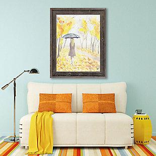 Autumn Rain 24x36 Barnwood Framed Canvas, Yellow, rollover