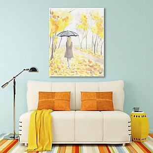 Autumn Rain 24X36 Metal Wall Art, Yellow, rollover