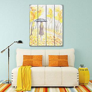 Autumn Rain 20X24 Wood Plank Wall Art, Yellow, rollover
