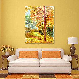 Autumn Park Wood 24X36 Acrylic Wall Art, Orange, rollover