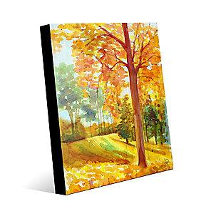 Autumn Park Wood 24X36 Acrylic Wall Art, Orange, large