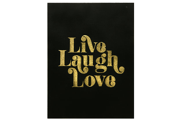 Home Accents Live Laugh Love Canvas Art Large