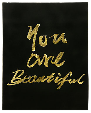 Home Accents You Are Beautiful Canvas Art, , large