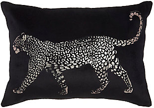 "Nourison Mina Victory Sofia 14"" x 20"" Throw Pillow, Black, large"