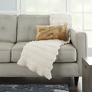 """Nourison Mina Victory Luminecence 14"""" x 20"""" Throw Pillow, , rollover"""