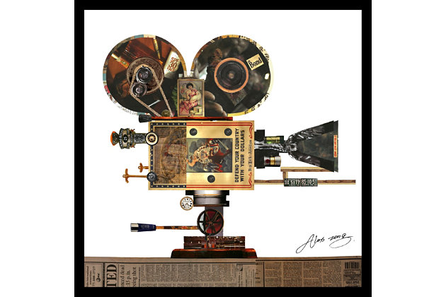 Home Accents Projector Collage Art, , large