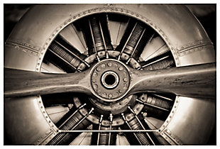 Home Accents Vintage Plane Propeller Glass Art, , large