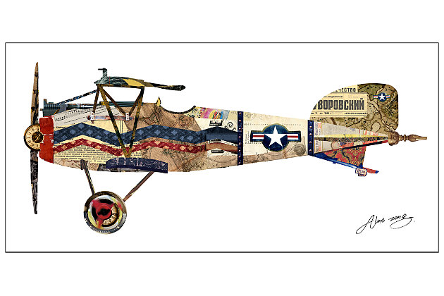 Home Accents Vintage Plane Collage Art by Ashley HomeStore, Multi