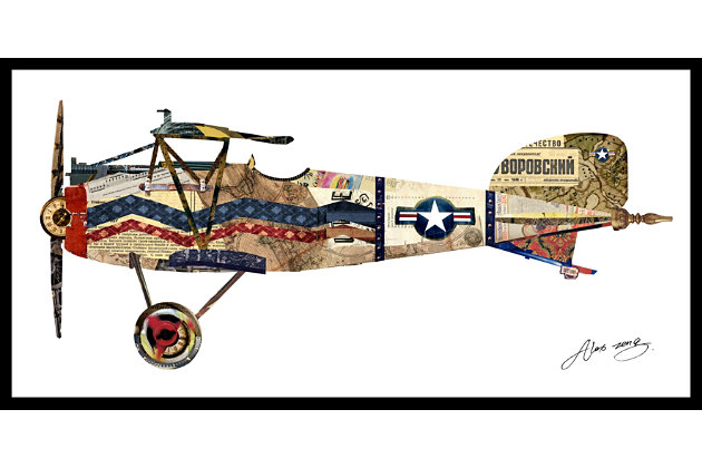 Home Accents Vintage Plane Collage Art, , large
