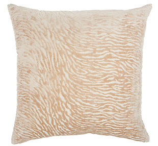 """Nourison Mina Victory Luminescence 20"""" x 20"""" Throw Pillow, Beige, large"""
