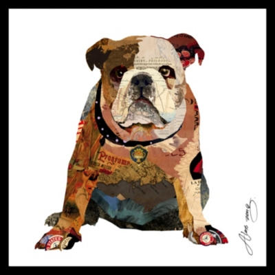 Ashley Accents Bull Dog Collage Home